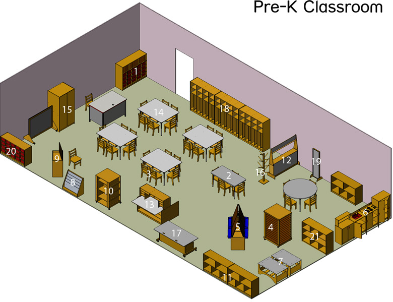 Classroom Design For Pre K : World classroom furnishing pre k layout