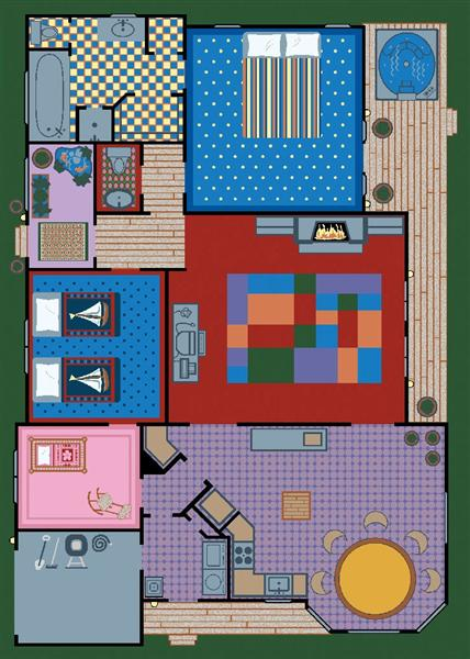Creative Play House 169 Area Rug