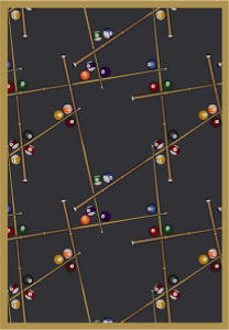 Snookered 169 Billiard Themed Rug