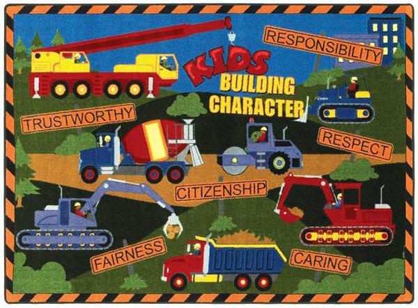 Kids Building Character 169 Classroom Rug
